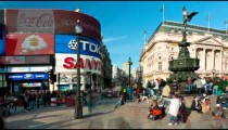 Time-lapse of Piccadilly Circus during daytime