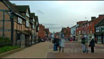 Time-lapse of traffic in front of Shakespeare's birthplace in England.