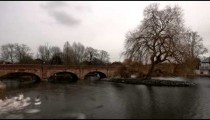 Time-lapse of swans on the river Avon in Stratford-upon-Avon, England.