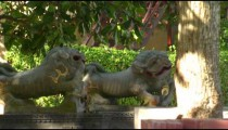 Dragon/lion statues in Bali.