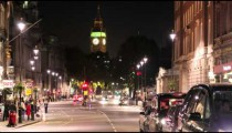 LONDON - CIRCA OCTOBER 2011: Time-lapse of White Hall road and Big Ben circa October 2011 in London