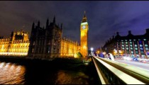 Time-lapse of Big Ben and Westminster in London