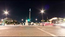 Time-lapse of Nelson's Column and Charing Cross, London.
