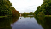 Saint James Park waterway time-lapse in London