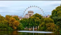 London Eye time-lapse from Saint James Park in London