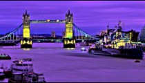HDR time-lapse of the Tower Bridge in London.