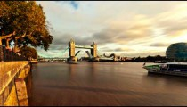 Time-lapse of the Tower Bridge opening in London.