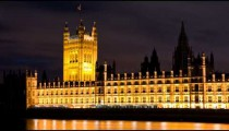 Time-lapse of Victoria Tower at Westminster Palace in London.