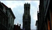 Church tower in Brugge, Belgium.