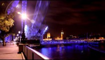 Time-lapse of the London Eye at night.