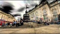 Tone mapped HDR time-lapse of the Shaftesbury Memorial at Piccadilly Circus in London.