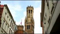 Tower of a church in Brugge, Belgium.