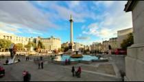 Time-lapse of Trafalgar Square in London.
