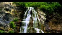 Part of Bridal Veil Falls in Provo, Utah.