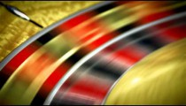 Roulette table spinning with the ball in a close up shot.