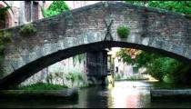 Bridge over a canal in Brugge, Belgium.
