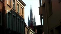 Steeple of a church in Brugge, Belgium.