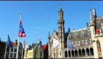 City plaza in Brugge, Belgium.