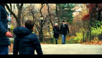 Royalty Free Stock Footage of Couple walks on a path in Central Park, Manhattan, New York.