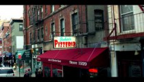 Royalty Free Stock Footage of Shops and restaurants on a street in Manhattan, New York City.