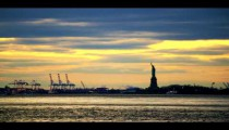 Royalty Free Stock Footage of Statue of Liberty from a distance, New York.