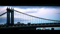 Royalty Free Stock Footage of Manhattan Bridge in New York City.