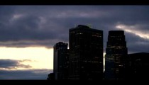 Royalty Free Stock Footage of Time lapse of sky and skyscrapers in New York City.