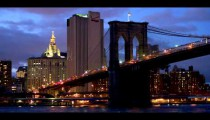 Royalty Free Stock Footage of Time lapse of the sky and the Manhattan Bridge in New York City.