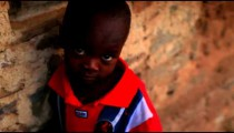 Young child looking into the camera in Kenya, Africa.