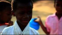 Little Kenyan boy looking at the camera.