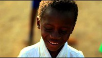 Little smiling Kenyan boy.