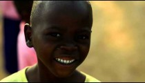 Kenyan boy staring at the camera.