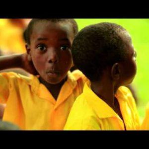 Kenyan boys making faces at the camera.