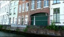 Buildings alongside a canal in Brugge, Belgium.