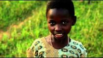 Little Kenyan girl looking at the camera.