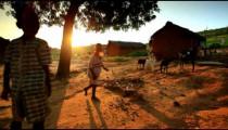 Kids near a village in Kenya.
