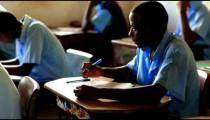 School boy in class in Kenya.