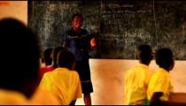 Teacher at a school in Kenya.