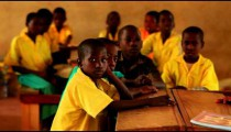 Boys in a classroom in Kenya.