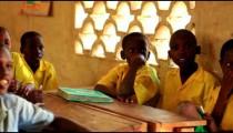 Boys in class in Kenya.