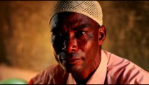 Close up of a Muslim man in Kenya.