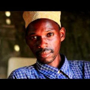 Muslim man in a village in Kenya.