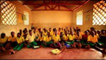 Schoolroom filled with students in Kenya.
