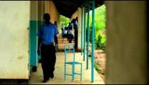 Students taking a break in a Kenyan village.