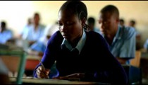 Students testing in a class in Kenya.