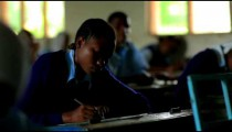 Testing in a school in Africa.