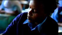 Testing in a classroom in Kenya.