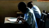 Testing in a classroom in Africa.
