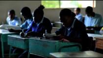 Students test taking in Kenya.