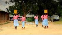 Students testing in Kenya.